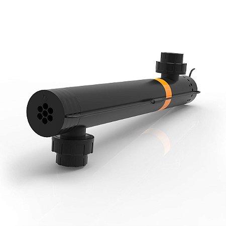 Filtro esterilizador UV 60W c/ luva de quartzo para lagos de até 18000lt 220V - Conexão de 50mm