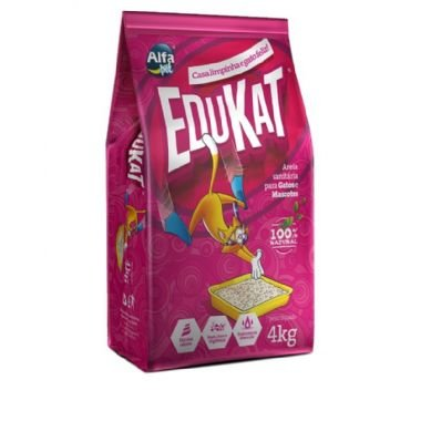 Granulado (Areia) higiênica para gatos Edukat 4kg - Alfa pet