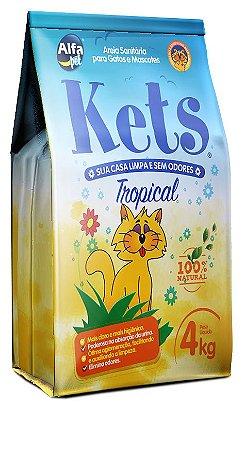 Granulado (Areia) higiênica para gatos Kets 4kg - Alfa pet