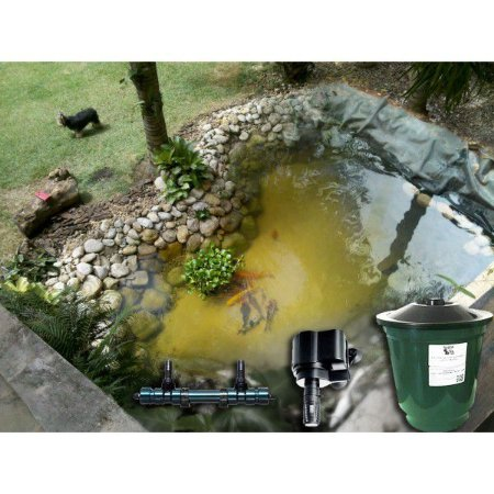 Kit para lagos de até 2mx2m c/ filtro UV 220V - Manta de PVC