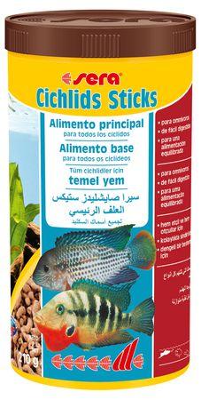 Alimento base para Ciclideos Sera Cichlids Sticks 210g