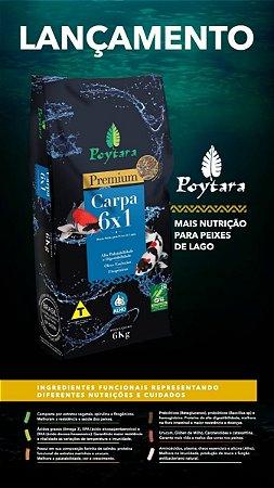 Ração Premium para peixes de lagos Poytara Carpa 6x1 - 6kg