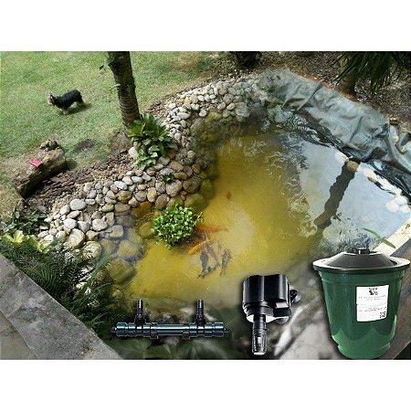 Kit para lagos de até 3mx2m c/ filtro UV 220V - Manta de PVC + instalação (somente estado de São Paulo)