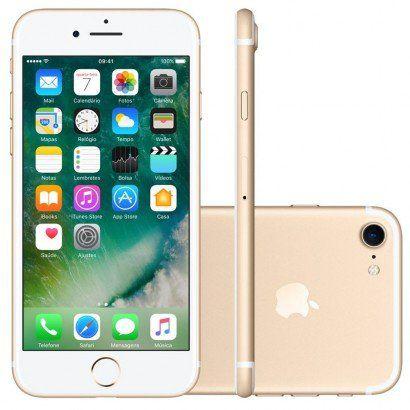 iPhone 7 32GB Dourado Tela Retina HD 4,7  Touch Câmera de 12MP - Apple