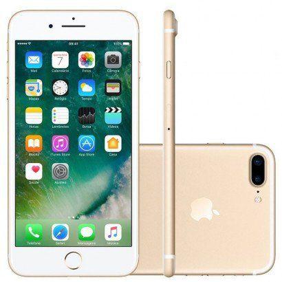 """iPhone 7 Plus 32GB DOURADO Tela Retina HD 5,5"""" 3D Touch Câmera Dupla de 12MP"""