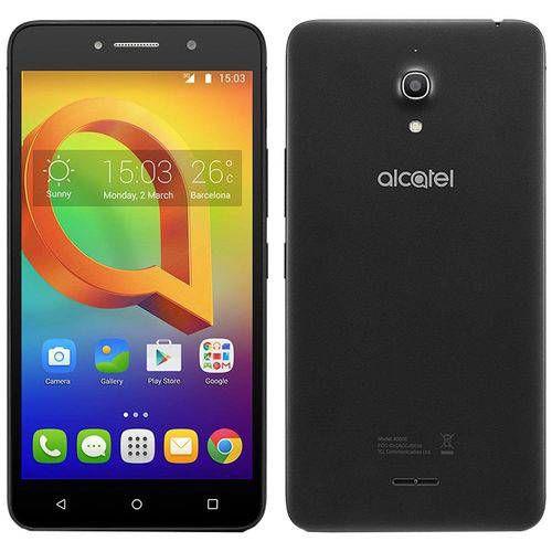 """Alcatel A2 XL HD Preto - Tela de 6"""" IPS HD, 16GB, 1GB RAM, Quad-Core, Câmera 13MP + Frontal de 8MP, Android 5.1"""