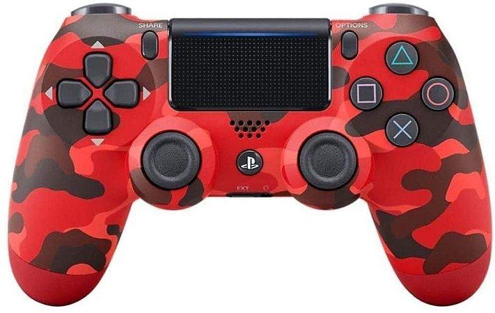Controle Playstation Dualshock 4 Vermelho Camuflado - PS4