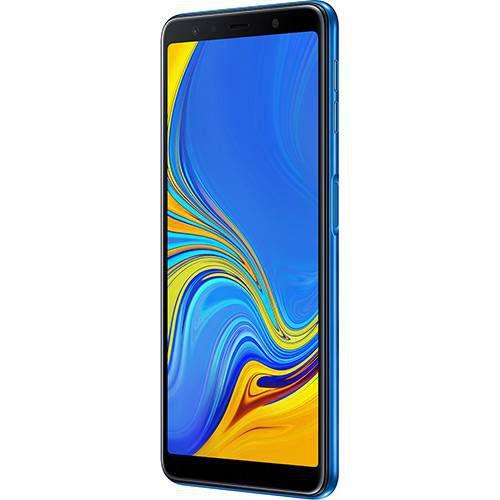 "Galaxy A7 64GB Dual Chip Android 8.0 Tela 6"" Octa-Core 2.2GHz 4G Câmera Triple - Azul"