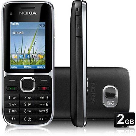 Nokia C2-01 Novo 3G Desbloqueado , Preto, Câm 3.2mp,