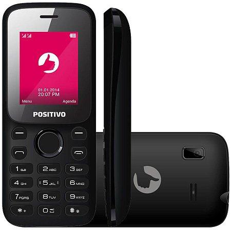 Positivo P31, Tela 1,8 FM, Câmera, Dual Chip, -3G Preto