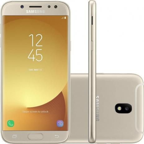 Samsung Galaxy J7 Pro 64GB Dourado - Dual Chip 4G Câm. 13MP + Selfie 13MP