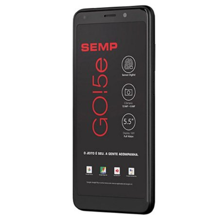 Smartphone SEMP GO 5E, Preto, SC9832E, Tela de 5.5', 16GB, 13MP