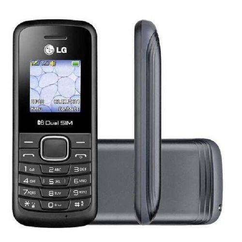 Celular Desbloqueado Lg B220 Preto Com Dual Chip, Rádio Fm