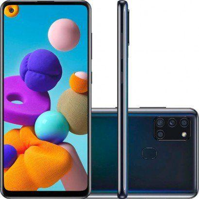 Samsung Galaxy A21s 64GB 3GB RAM Preto