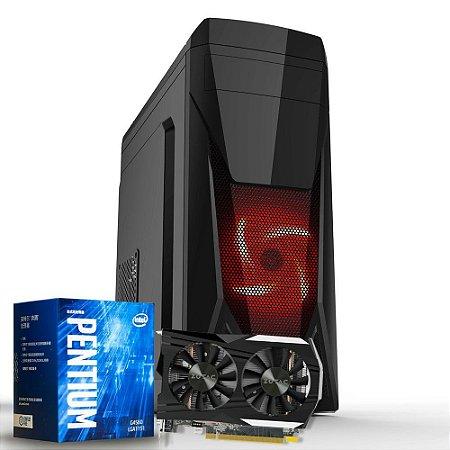 Computador Mega Gamer 1, Pentium G4560, GeForce GTX 1050 2GB, 8GB DDR4, HD 1TB, 500W