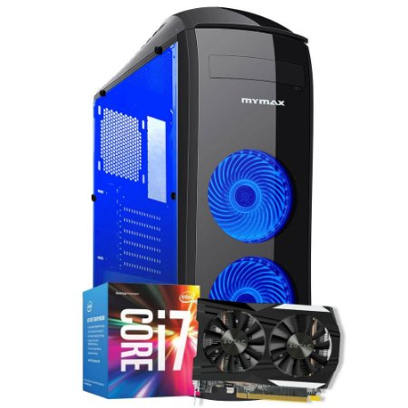 Computador Mega Gamer 3, Intel Core I7 7700, GeForce GTX 1050TI 4GB, 16GB DDR4, HD 1TB, 600W