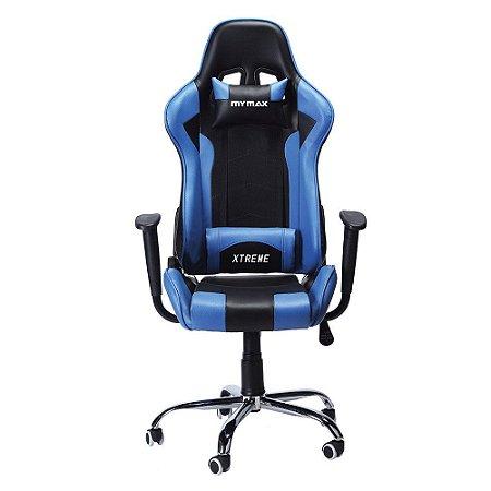 Cadeira Gamer Mymax MX7 Preto e Azul