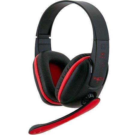 Headset Fortrek Tarantula SHS702 Preto e Vermelho