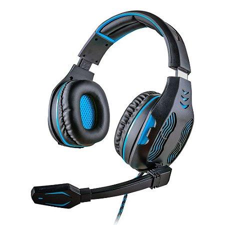 Headset Mymax Gamer 5.1 Centauro Preto e Azul