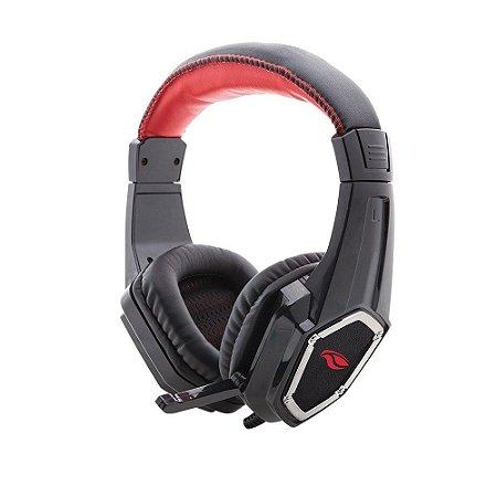 Headset C3 Tech Gamer PH-G100 Preto e Vermelho