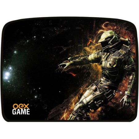 Mouse Pad Gamer OEX Galaxy MP304 Preto 320x420mm – OEX