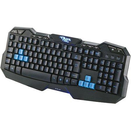 Teclado Gamer USB Mazer Type Preto e Azul – E-Blue