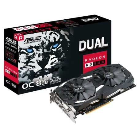 Placa De Vídeo Asus AMD Radeon RX 580 OC Edition 8GB, DVI, HDMI, Display Port