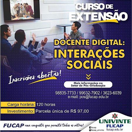 Docente Digital: Interações Sociais