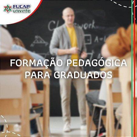 Formação Pedagógica Para Graduados