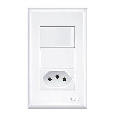 Interruptor 2 Teclas Simples e Tomada 2P+T -Evidance Fame-