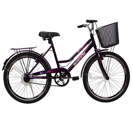 Bicicleta Lisa Braciclo ARO 24 Quadro Aço Carbono Feminina