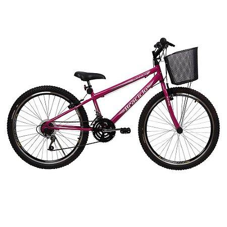 Bicicleta Winner Braciclo ARO 26 Feminina 18 Velocidades
