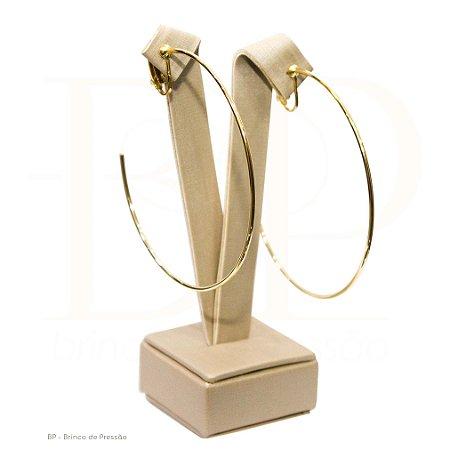 Argola 7,00 cm Dourada