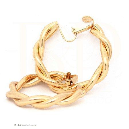 Argola Camaçari Dourado