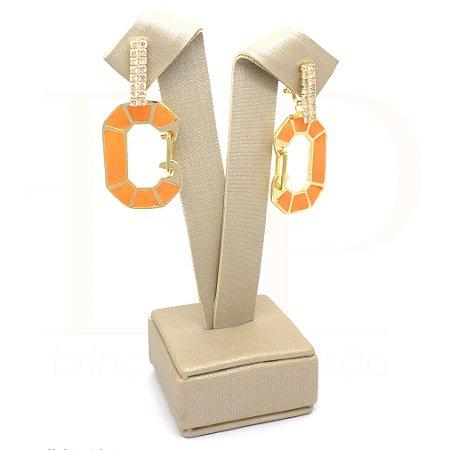 Delicada  Cadeado laranja dourado
