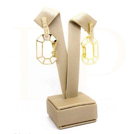 Cadeado Creme Dourado