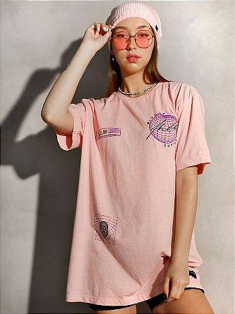 Camiseta Boyfriend Mind Of Future Rosa