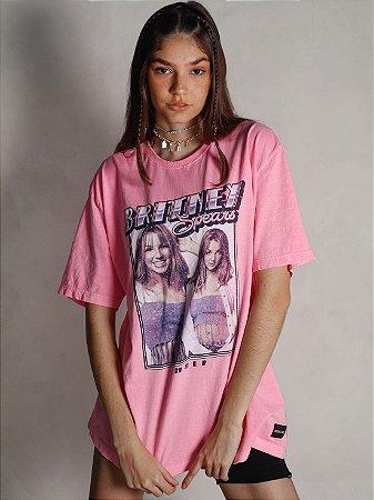 Camiseta Boyfriend Britney Spears Rosa