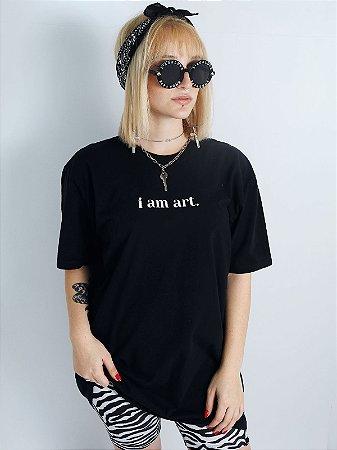Camiseta Boyfriend Touch Of God Preta