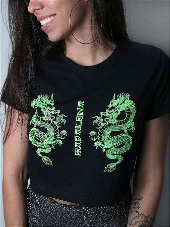 Cropped Dragon Preto