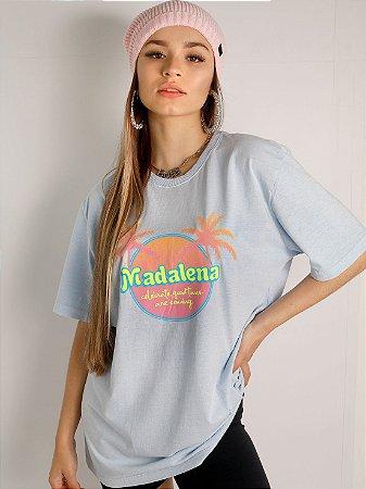 Camiseta Basic Celebrate Azul Estonada