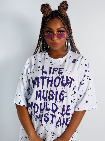 Camiseta Boy Over Life Without Music Branco