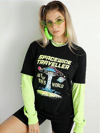 Camiseta Basic Spacewide Traveller Preta