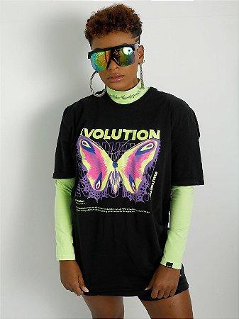 Camiseta Boyfriend Evolution Preta