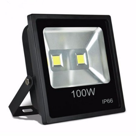 Refletor Holofote LED 100w Branco Frio 6000k Preto