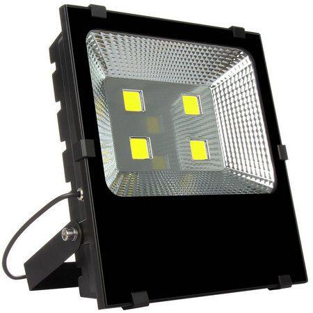 Refletor Holofote LED 200w Branco Frio 6000k Preto Slim