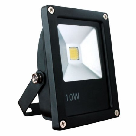 Refletor Holofote LED 10w Branco Quente 3000K Preto