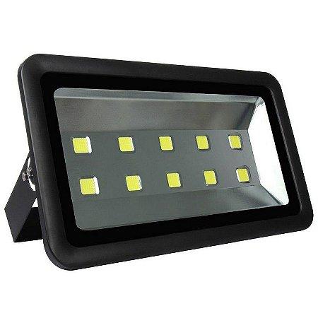 Refletor Holofote LED 500w Branco Frio 6000k Preto