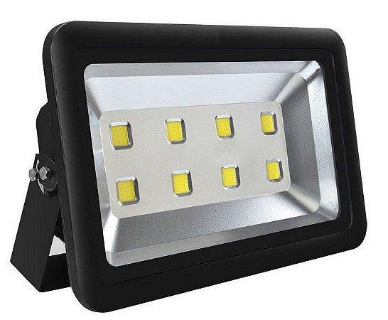 Refletor Holofote LED 400w Branco Frio 6000k Preto