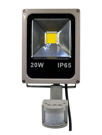 Refletor Holofote LED 20w Sensor de Presença Branco Frio 6000k